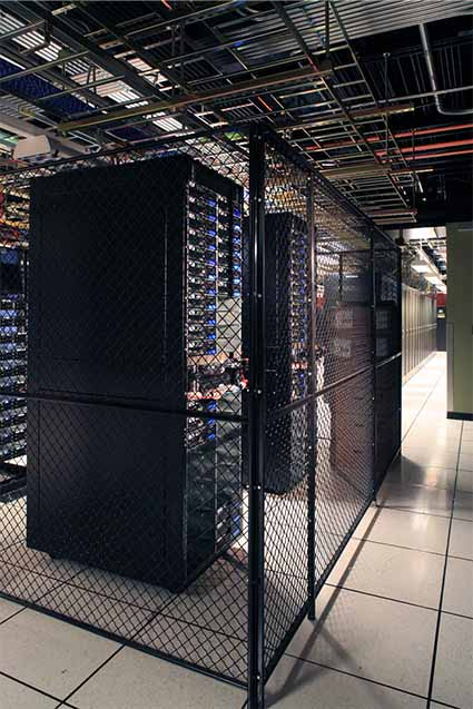 A colocation cage inside an Evocative data center. (Image: Evocative)