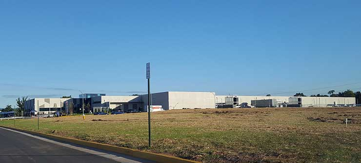 Iron Mountain's VA-1 data cenetr is a 165,000 square foot, 10.5 megawatt facility, with room for expansion on the campus. (Photo: Rich Miller)