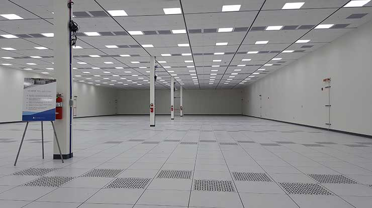One of the customer data halls inside the Iron Mountain VA-1 data center in Manassas. The facility will have six of these 11,000 square foot halls. (Photo: Rich Miller)