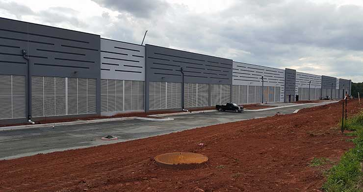 A new Amazon data center under construction in Sterling, Virginia. (Photo: Rich Miller)