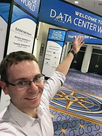 Use your social media channels to boost interest in your presentation. Bill uses Twitter and Facebook to network when he's at a a conference. (Photo: Bill Kleyman)