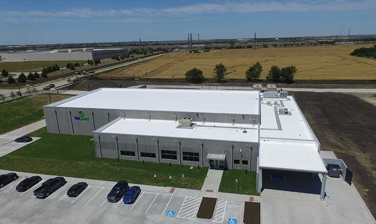 The TierPoint data center on a campus in Allen, Texas. The facility was built by Compass Datacenters. (Photo: Compass)