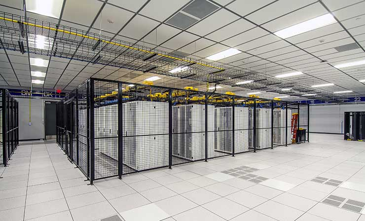 The data hall inside the TierPoint data center in Allen, Texas, which was built by Compass Datacenters. (Photo: Compass)