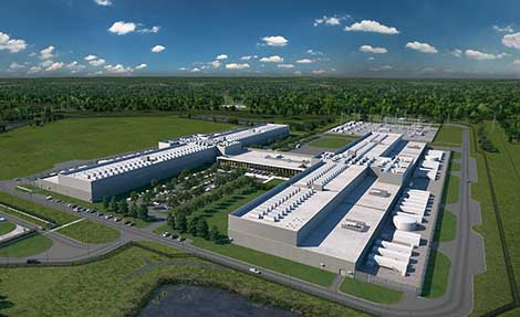 An illustration of the Facebook Henrico data center near Richmond. (Image: Facebook)