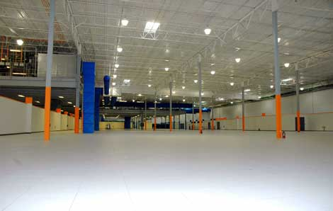 The 180,000 square foot data hall inside the IO Phoenix data center. (Photo: IO)