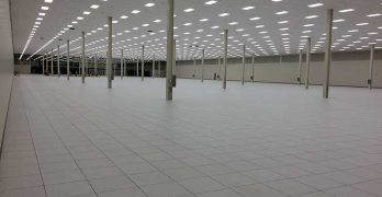 This data hall at the Peak10 + ViaWest ComPark data center is 710 feet long and 200 feet wide. (Photo: ViaWest)