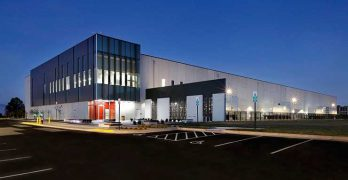The exterior of DC12, the first data center on the new Equinix campus in Ashburn, Virginia. (Photo: Equinix)