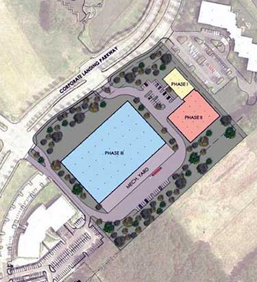 The site plan for a Globalinx data center campus in Virginia Beach. (Image: Globalinx)