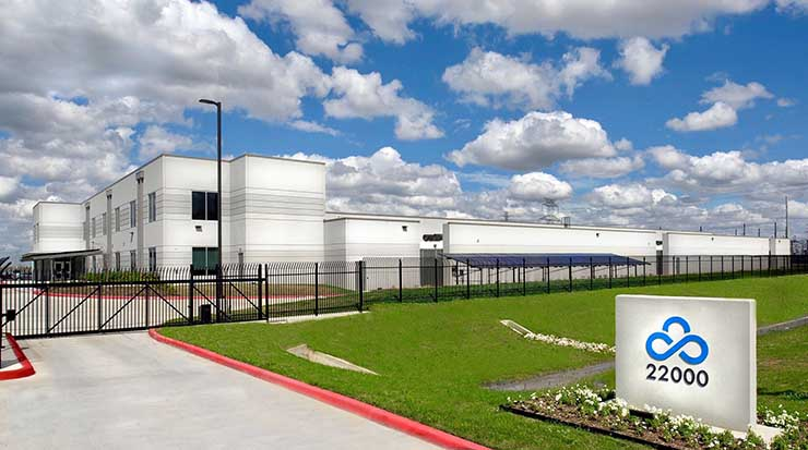 The Skybox Houston One data center, where the company recently began offering colocation services as well as wholesale space. (Image: Skybox)