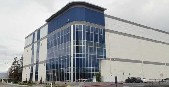 The V6 data center is the newest building at the Vantage Data Centers campus in Santa Clara. (Photo: Rich Miller)