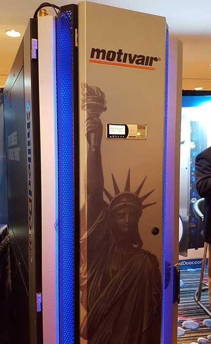 "he ""New York State of Mind"" was embraced by Motivair with its Statue of Liberty themed cooling door. (Photo: Rich Miller)"