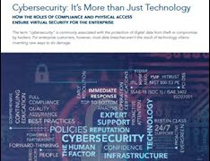 Cybersecurity: It's More than Just Technology