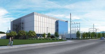 An illustration of what Vantage Data Centers' new Mathew campus will look like when it opens next year. (Image: Vantage)