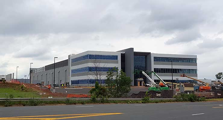The new QTS Data Centers facility in Ashburn is nearing completion. (Photo: Rich Miller)