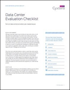 Data Center Evaluation