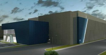 An illustration of an Aligned Energy data center planned for Ashburn, Virginia. (Image: Aligned Energy)