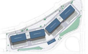 An illustration of the planned EdgeCore data center campus in Sterling, Virginia. (Image: EdgeCore)
