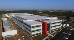 An aerial view of QTS Data Centers' new facility in Ashburn, Virginia. (Photo; QTS)