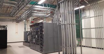 A power room inside the QTS Ashburn data center. (Photo: Rich Miller)