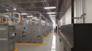 A power room housing electrical infrastructure inside the RagingWire VA3 data center in Ashburn, Virginia. (Photo: Rich Miller)