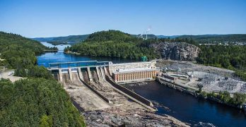 Hydroelectric power generation, like this Hydro-Quebec Central LaTuque dam, have made the Montreal area a hub for hyperscale data centers (Photo: Hydro-Quebec)