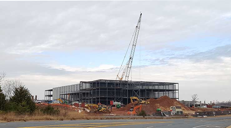 The site in February 2018, as the superstructure begins to take shape. (Photo: Rich Miller)
