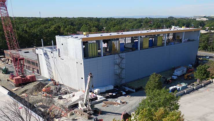Construction on the CoreSite VA3 data center in Reston, Virginia. (Photo: CoreSite)