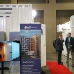 Data center modules on display at the recent Edge Congress conference in Austin, Texas. (Photo: Rich Miller)