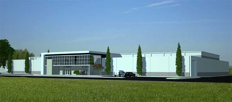 An illustration of the planned PointOne data center in Virginia Beach. (Image:PointOne)