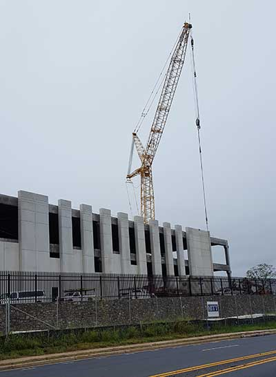 Data center construction in Sterling, Virginia. (Photo: Rich Miller)