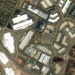 An aerial view of major facilities in Data Center Alley in Ashburn, Virginia. (Image: Loudoun County)