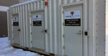 An EdgeMicro data center module deployed near a Flexential facility in Englewood, Colorado. (Photo: EdgeMicro)