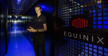 Inside an Equinix colocation center. (Image: Equinix)