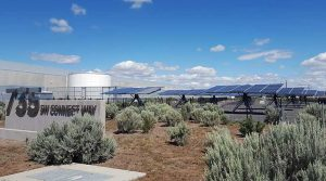 A solar power array outside the Facebook data center in Prineville, Oregon. (Photo: Rich Miller)