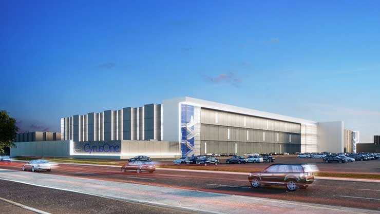 An illustration of the exterior of the planned CyrusOne Santa Clara data center. (Image: CyrusOne)