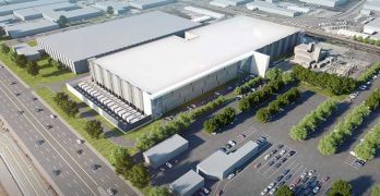 An illustration of an aerial view of the planned CyrusOne data center in Santa Clara. (Image: CyrusOne)