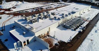 An aerial view of the QTS Data Centers Manassas project, which recently opened its first phase of capacity. (Photo: QTS Data Centers)