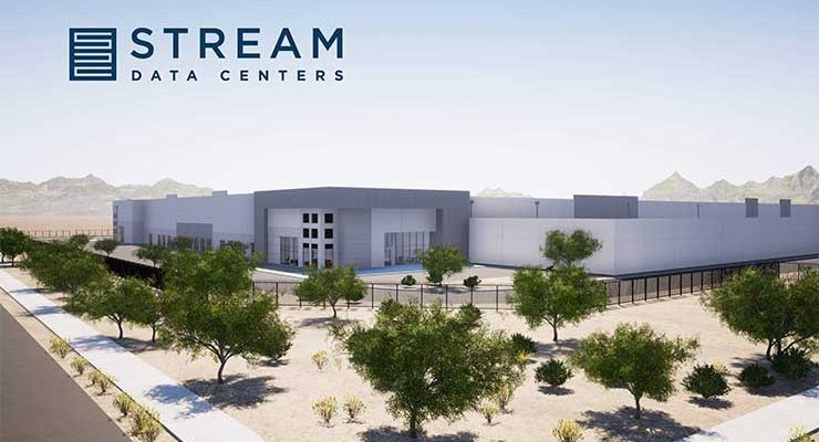 An illustration of the future Stream Data Centers campus in Goodyear, Arizona. (Image: Stream Data Centers)