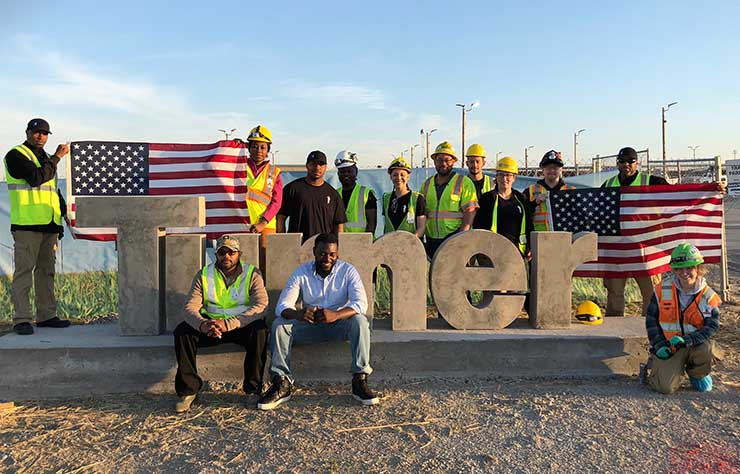 Members of the Salute team on a recent work site. (Photo: Salute Inc)