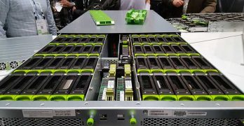 A disk tray for a Facebook high-capacity storage server. (Photo: Rich Miller)
