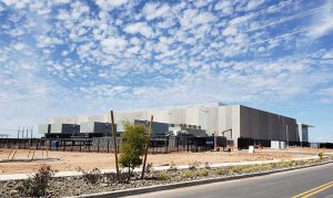 The first EdgeCore data center is nearing completion in Mesa, Arizona. (Photo: Rich Miller)