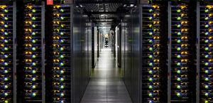 Rows of servers inside a Google data Center. (Photo: Google Cloud Platform)