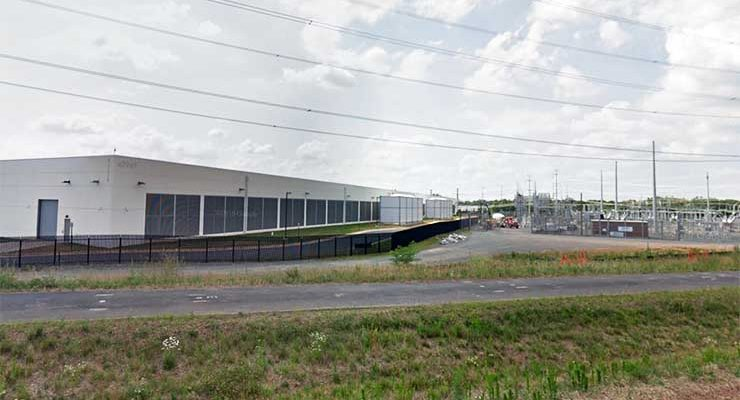A new data center and adjacent substation in Arcola, Virginia. (Image: Google Maps)