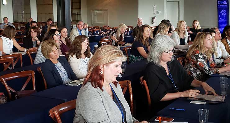 Some of the attendees at the CAPRE Women in Mission Critical event at Stone Tower Winery in Leesburg, Va. (Photo: Rich Miller).