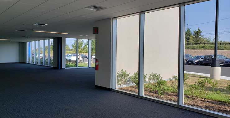 An office space for future customer use at the Vantage VA11 data center. (Photo: Rich Miller)