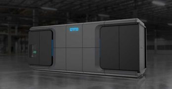 TMGcore has launched its OTTO system, a modular data center platform using immersion cooling and managed by software and robots. (Image: TMGcore)