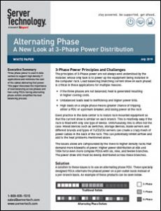 Alternating Phase PDU as a Solution to Three Power Distribution in Data Centers