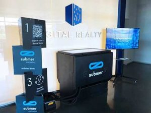 A demonstration of Submer immersion cooling technology in Digital Realty's Building L in Ashburn, Virginia. (Photo: Digital Realty)