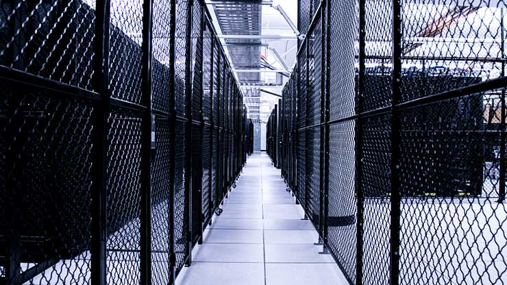 Colocation cages in the Digital Realty data center at 365 Main in San Francisco. (Photo: Digital Realty)