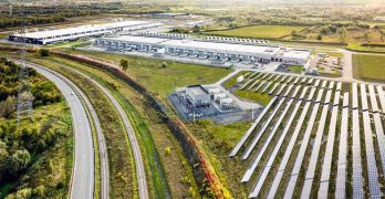 An on-site solar energy array at the Google data center campus iin Belgium. (Photo: Google)